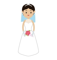 caucasian bride icon vector image