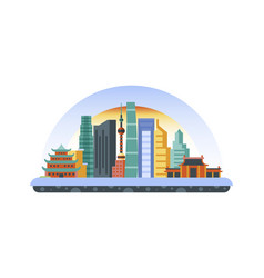 china icon in flat style vector image