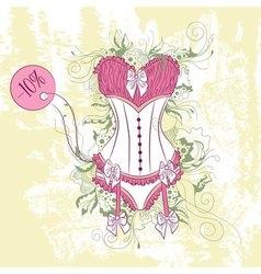 Decorative fashion of womens corset underwear vector image
