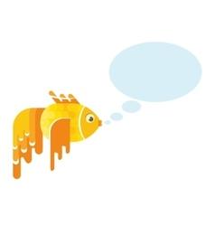 golden fish message vector image