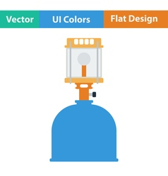 Icon of camping gas burner lamp vector