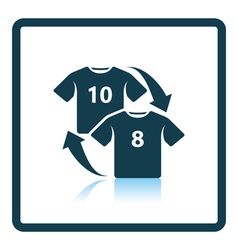 Icon of football replace vector image