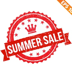 Rubber stamp summer sale - - EPS10 vector image vector image