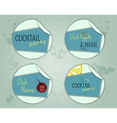 Summer cocktail party badge and label layout vector image vector image