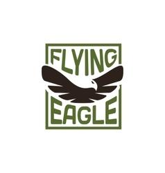 Isolated eagle silhouette logo Bird vector image vector image