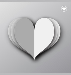 paper heart origami empty valentines day greeting vector image vector image