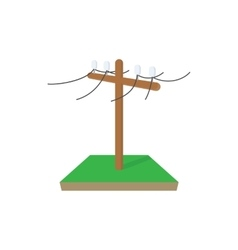 Power pole icon cartoon style vector image
