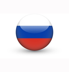 Round icon with national flag of Russia vector image vector image