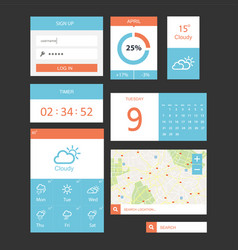 ui kit for website and mobile app designs vector image vector image
