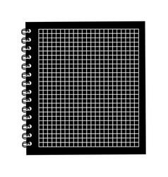black icon notebook cartoon vector image vector image