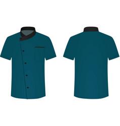 blue cook uniform vector image
