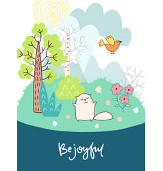 doodles cute card vector image