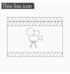 Film clapper board icon Style thin line vector image vector image