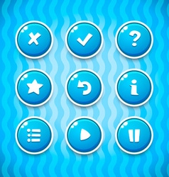 Game Buttons with Icons Set 2 GUI elements vector image vector image