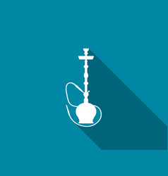 hookah with long shadow vector image