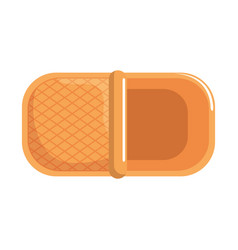 picnic basket empty vector image