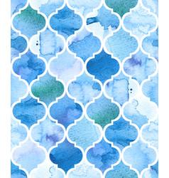 Watercolour moroccan background seamless vector