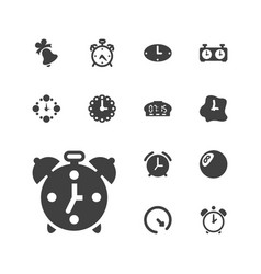 13 alarm icons vector image
