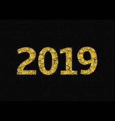 2019 broken golden numbers vector