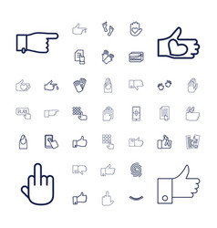 37 finger icons vector