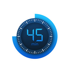 45 minutes stopwatch icon stopwatch vector