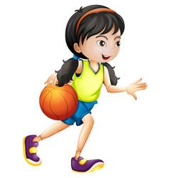 a female basketball athlete vector image