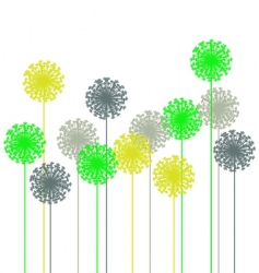 abstract dandelion vector image
