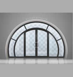 Arched door with window vector
