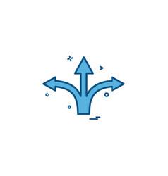 arrow straight right left icon design vector image