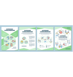 Avoiding consumerism brochure template vector