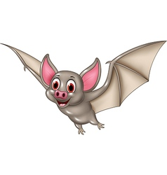 Bat cartoon flying isolated on white background vector