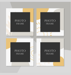 beautiful photo frame on background vector image