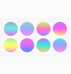 Beautiful soft color gradient circles vector