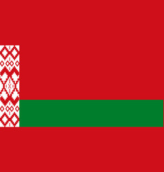 Belarusian flag with official colors vector