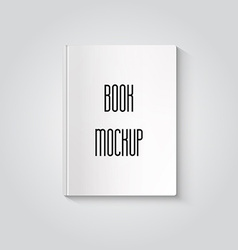 Blank book isolated mockup to replace your design vector image