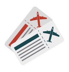 boarding pass two icon image vector image