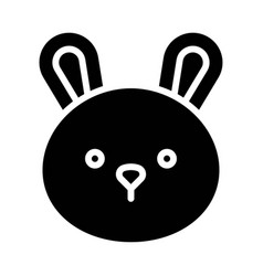 Bunny head icon thanksgiving related vector