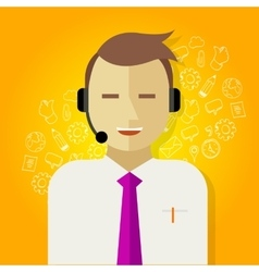 call center crm customer relationship management vector image vector image
