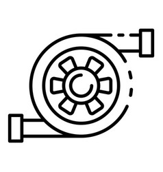 Car turbine icon outline style vector