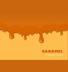 Caramel drips and flowing vector