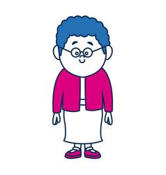 Cartoon woman skirt and shirt clothes standing vector