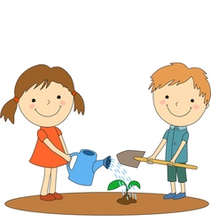 children help 1 vector image