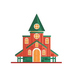 church cuilding facade on a vector image