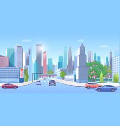 City downtown in summer vector