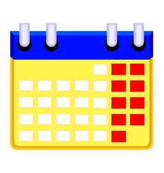 Colorfull cartoon calendar icon vector