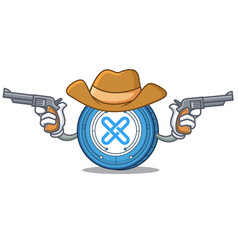 Cowboy gxshares coin character cartoon vector