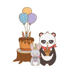 cute little animals cartoon vector image