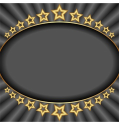 Dark background with stars and rays vector