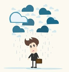 Despair Businessman vector image