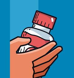 drink bottle super market products vector image